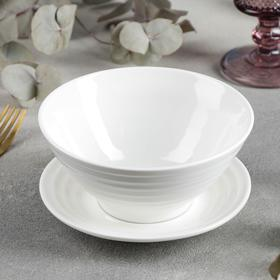 A bowl of 545 ml with a saucer d = 15 cm.