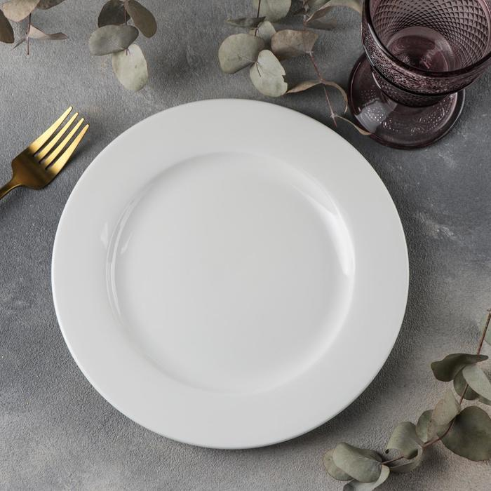 Тарелка обеденная Wilmax Stella Pro, d=23 см, цвет белый - фото 308066733