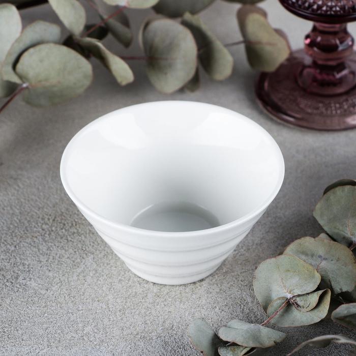 Салатник рельефный, 150 мл, цвет белый - фото 308067668