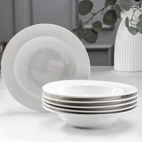 Набор тарелок глубоких «Юлия Высоцкая», 400 мл, 6 шт, d=22,5 см