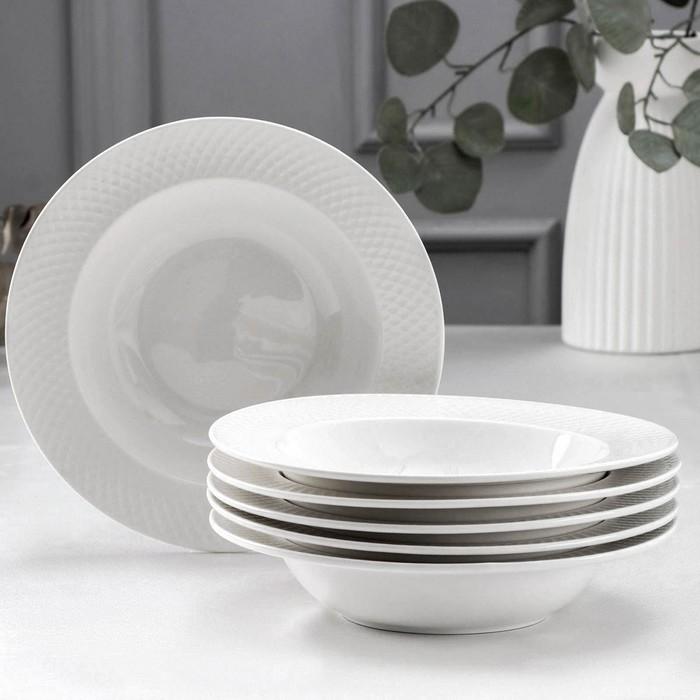 Набор тарелок глубоких «Юлия Высоцкая», 400 мл, 6 шт, d=22,5 см - фото 308066526