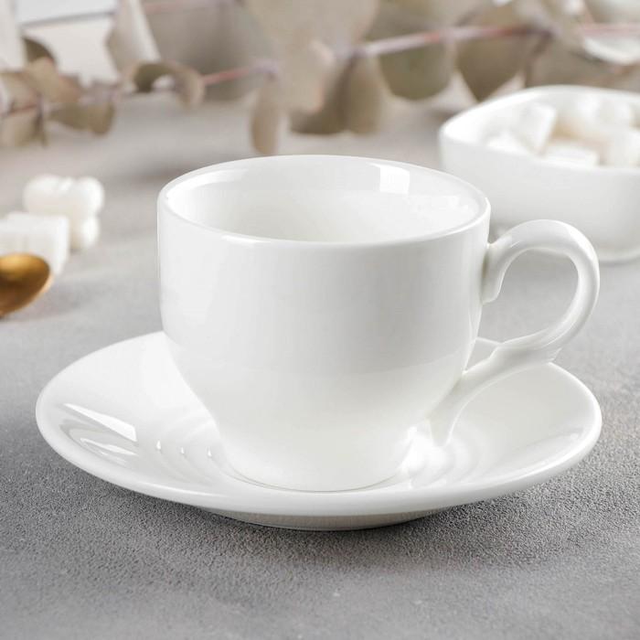 Чайная пара: чашка 220 мл, блюдце 14,2 см - фото 308067329