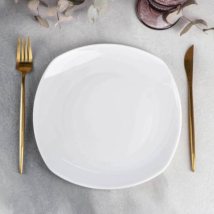 Тарелка обеденная квадратная Wilmax Ilona, 24,5×24,5 см - фото 178629610