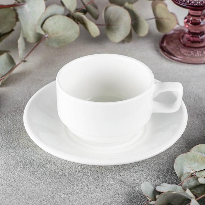 Чайная пара Wilmax Stella, 220 мл - фото 308067340