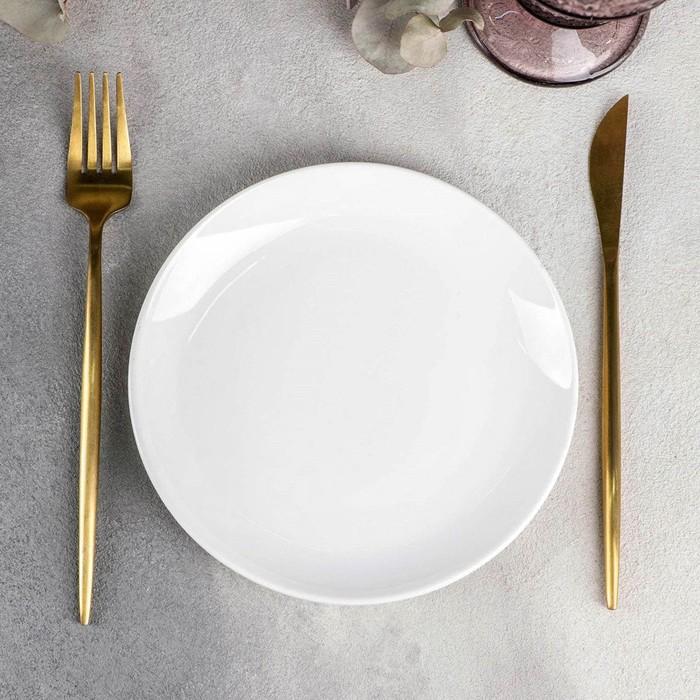 Тарелка десертная 18 см, с утолщенным краем