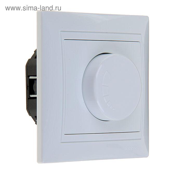 Выключатель-светорегулятор LEDARD Novus, 10 А, 250 В, 400 Вт, скрытый, белый