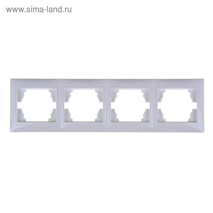 Рамка LEDARD Novus, четырехместная, вертикальная, белая
