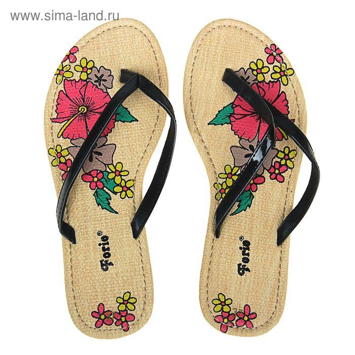 Туфли летние открытые женские Forio арт. 325-1008 (черный) (р.39)