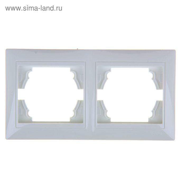 Рамка LEDARD Novus, двухместная, вертикальная, белая