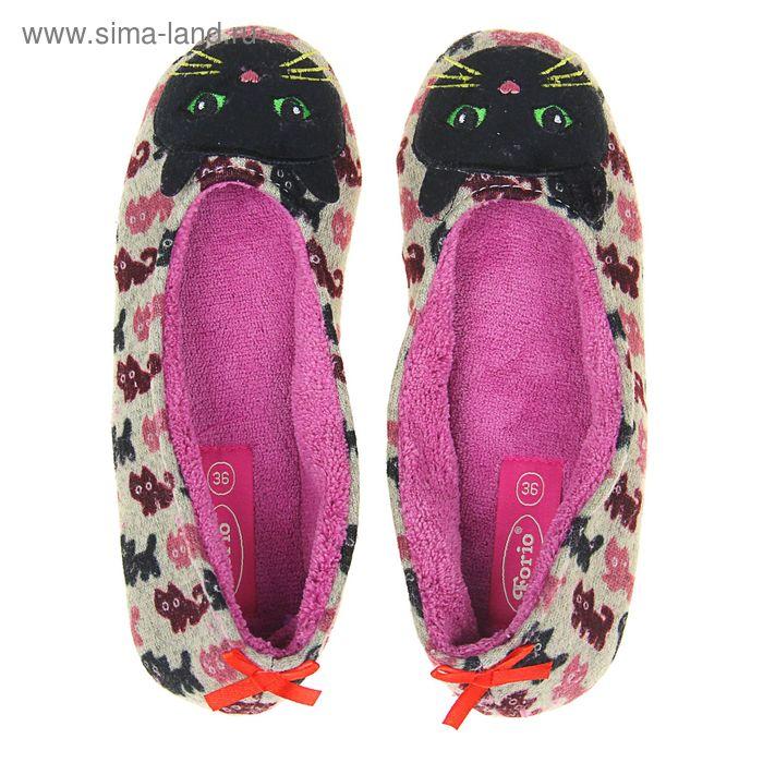 Тапочки домашние женские Forio арт. 135-5510 Б (розовый) (р. 39)