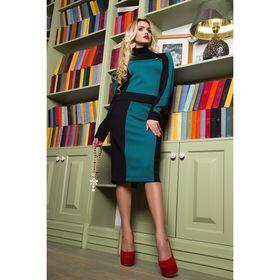 Костюм женский (джемпер, юбка) 75034  цвет тёмный изумруд, р-р 42 (S), рост 164