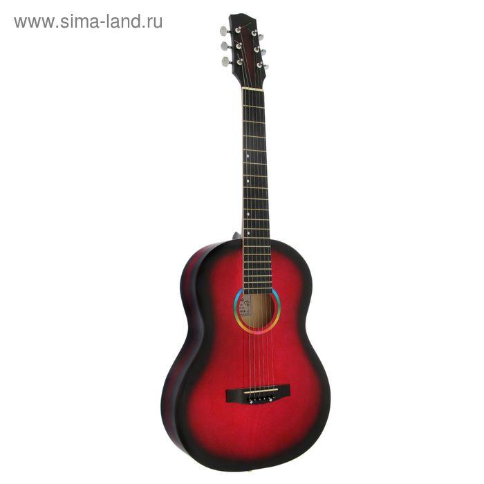 """Гитара акустическая """"Амистар Н-313"""" 6-струнная, художественная отделка, красная"""