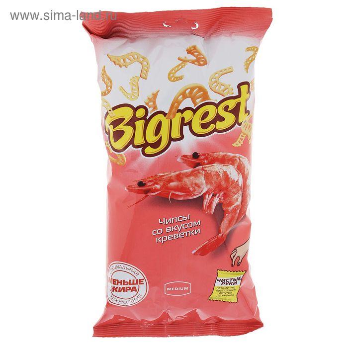 Чипсы Bigrest, со вкусом креветки, 80 г