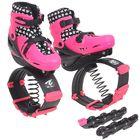 Ботинки для фитнеса прыгающие со сменной роликовой платформой ABEC 7, PU р. 35-38, цвет розовый 12