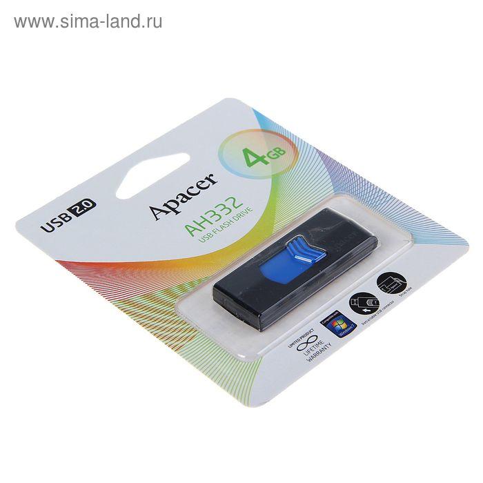 USB-флешка Apacer 4Gb AH332, чёрно-синяя