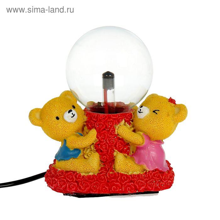 "Плазменный шар ""Мишки в розах"" 15х8,5х14,5 см"