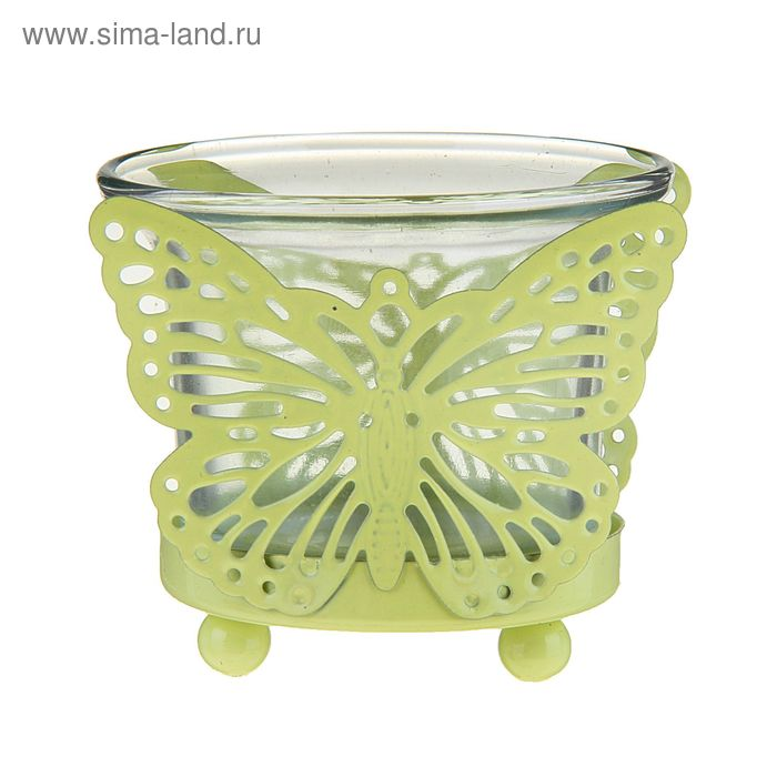 "Подсвечник 1 свеча ""Бабочка"" МИКС"