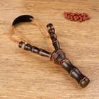 Рогатка, двойной резиновый жгут, деревянная, 19х11 см, микс