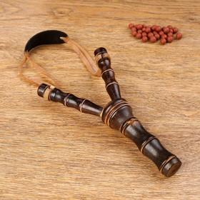 Рогатка, двойной резиновый жгут, деревянная, 19х11 см, Ош