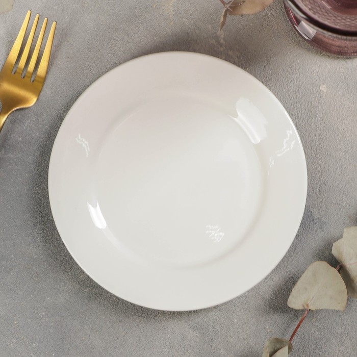 Тарелка пирожковая с утолщённым краем White Label, d=15 см, цвет белый - фото 308066762