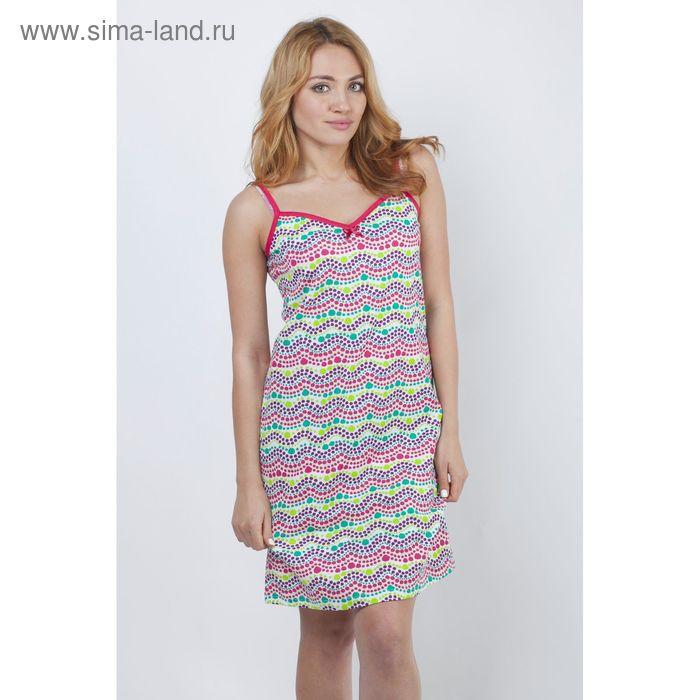 """Сорочка женская ночная """"Цветные волны"""" Р308090, рост 158-164 см, р-р 50"""
