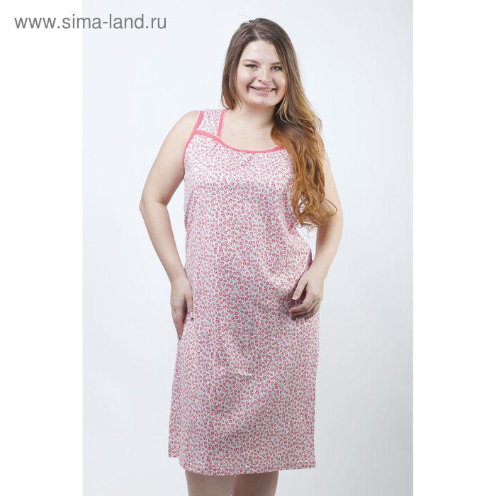 Сорочка женская ночная Р308140 розовый, рост 158-164 см, р-р 54