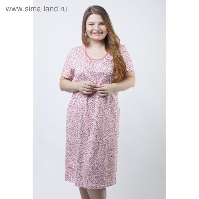 Сорочка женская ночная Р308142 розовый, рост 158-164 см, р-р 48