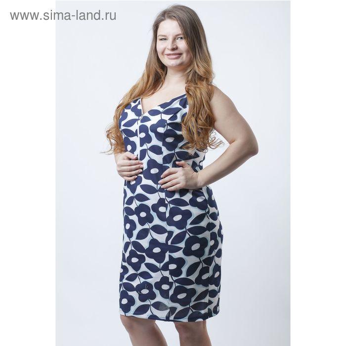 Платье женское Р708151 голубой, рост 158-164 см, р-р 56