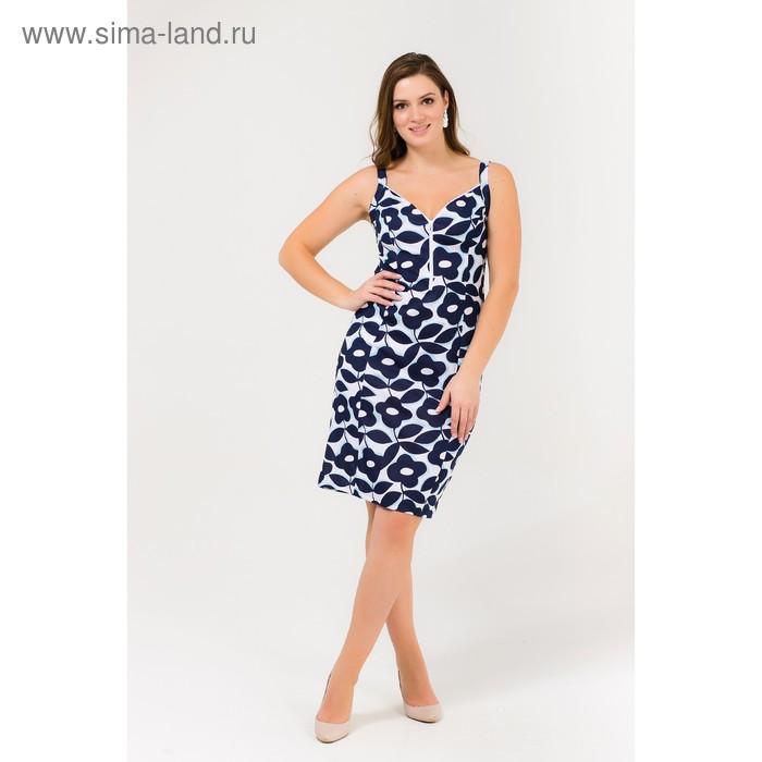 Платье женское Р708151 голубой, рост 170-176 см, р-р 52