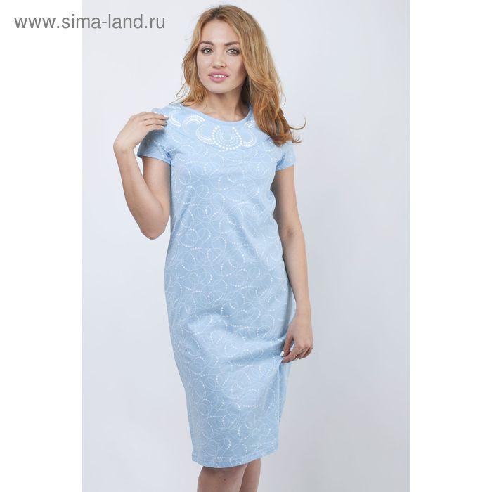 Сорочка женская ночная Р308048 голубой, рост 170-176 см, р-р 44