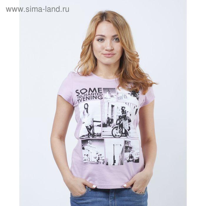 Футболка женская Р808208 розовый МИКС, рост 170-176 см, р-р 50