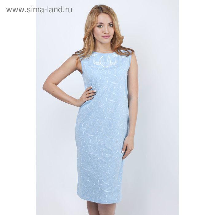 Сорочка женская ночная Р308047 голубой, рост 158-164 см, р-р 52