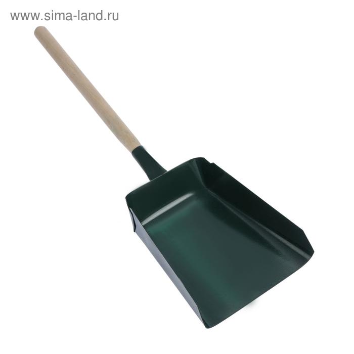 """Совок хозяйственный с деревянной ручкой """"Широкий"""", цвет МИКС"""