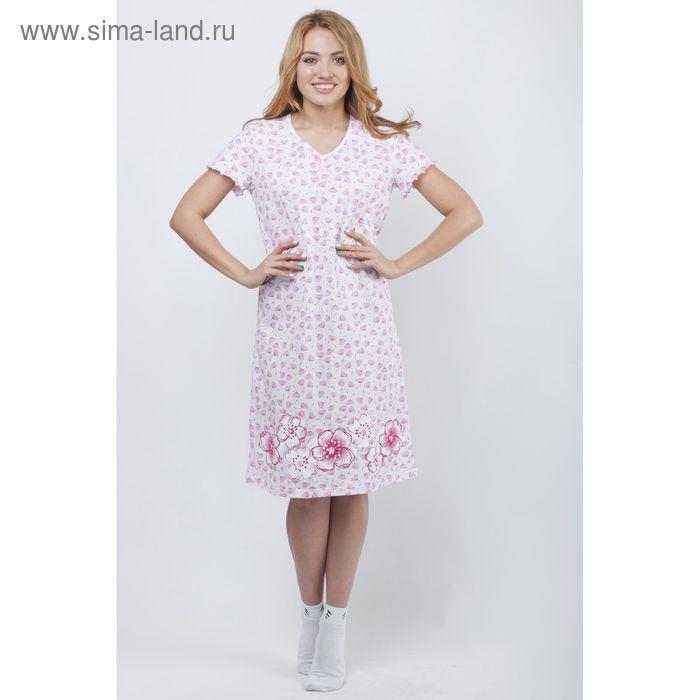 Сорочка женская ночная Р308033 розовый, рост 158-164 см, р-р 44