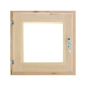 Окно, 40×40см, двойное стекло, из липы Ош