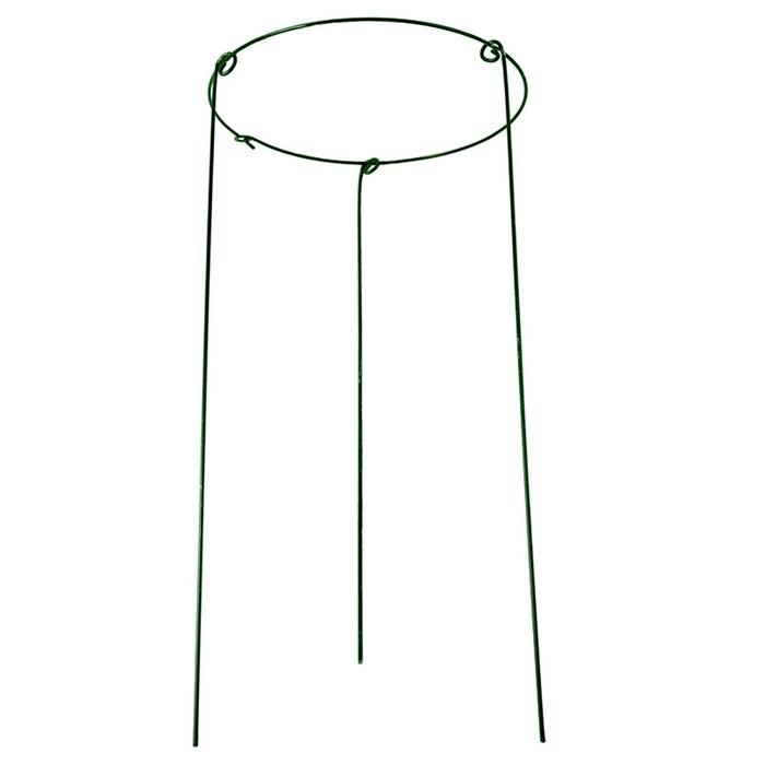 Кустодержатель, d = 40 см, h = 90 см, ножка d = 0.3 см, металл, зелёный
