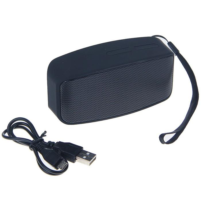 Портативная колонка LuazON Hi-Tech19, Bluetooth, 3 Вт, microSD, матовый, чёрная