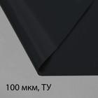 Плёнка полиэтиленовая, техническая, толщина 100 мкм, 3 × 100 м, рукав (1,5 м × 2), чёрная, 2 сорт, Эконом 50 %