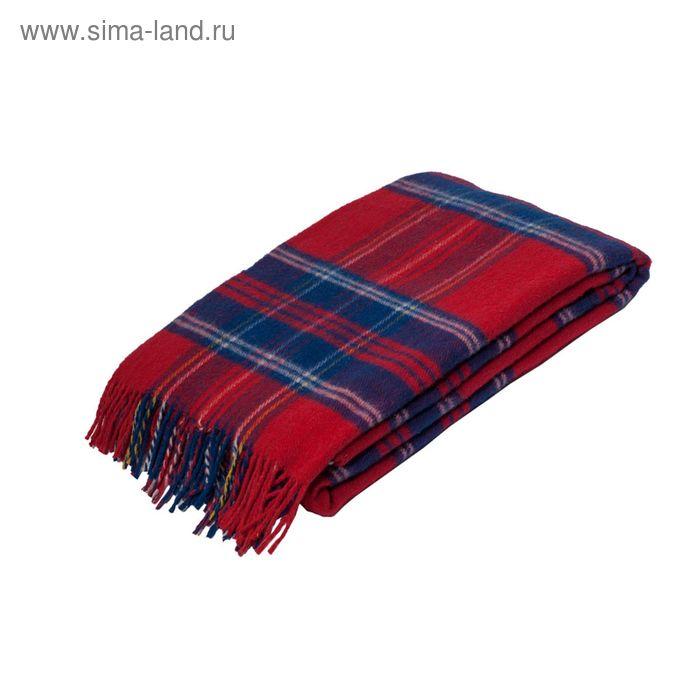 Плед Шотландия шерстяной, 100% овечья шерсть  140*200 см, цв.40
