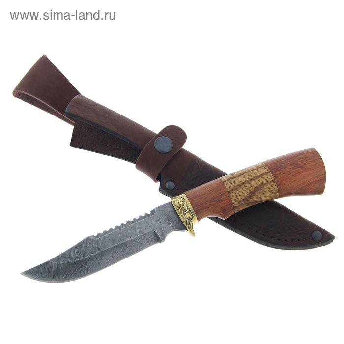 """Нож нескладной """"Рыбак"""" СТ-7, г.Павлово, дамасская сталь, рукоять-ЦПД+1 литье"""