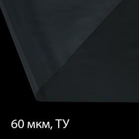 Плёнка полиэтиленовая, толщина 60 мкм, 3 × 100 м, рукав (1,5 м × 2), прозрачная, 1 сорт, Эконом 50 %