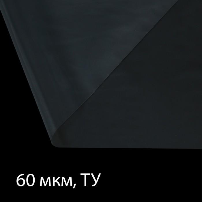 Плёнка полиэтиленовая, толщина 60 мкм, 3 × 100 м, полотно, прозрачная