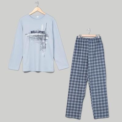 Комплект мужской (джемпер, брюки), размер 54, цвет серый (арт. 945)