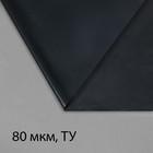 Плёнка полиэтиленовая, техническая, толщина 80 мкм, 3 × 100 м, рукав (1,5 м × 2), чёрная, 2 сорт, Эконом 50 %