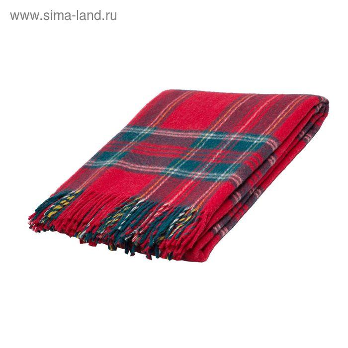 Плед Шотландия шерстяной, 100% овечья шерсть  140*200 см, цв.42