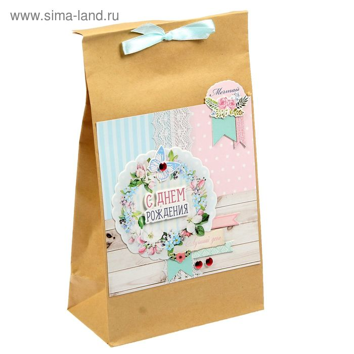 Набор по декорированию подарочного пакета «С днём рождения!», 15 х 28 см