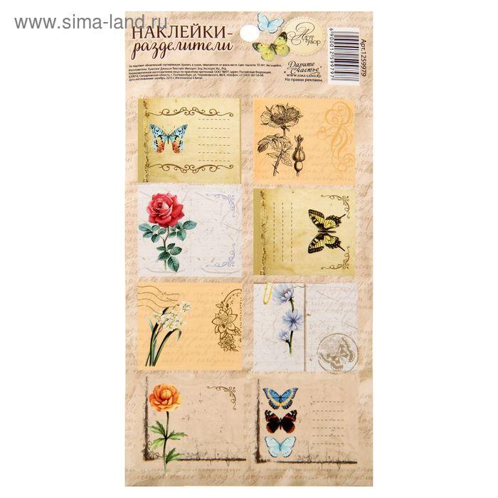 Набор декоративных наклеек «Винтаж», 9 х 18 см