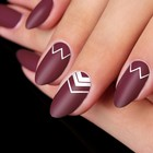 "Stencils for nails ""zigzag"", 2"