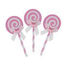 """Набор для украшения торта """"Карамелька"""" с бантиком, набор 6 шт., цвет розовый"""
