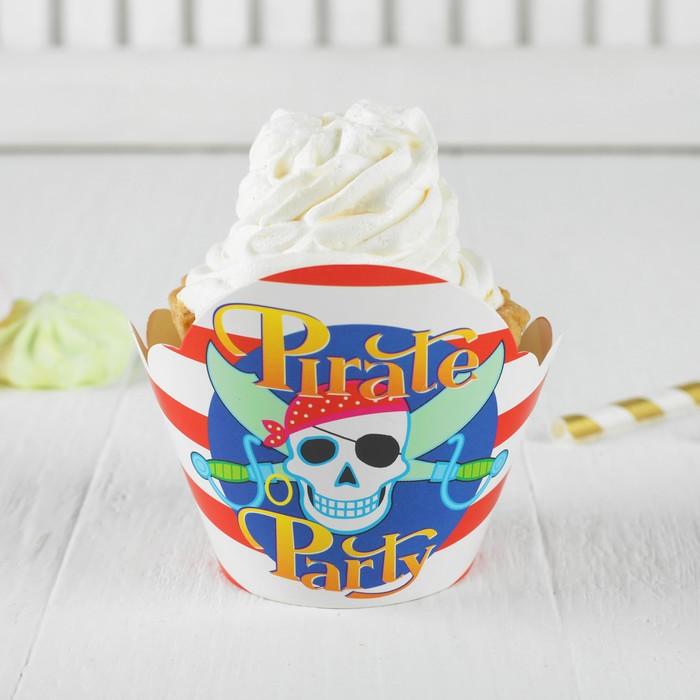 """Украшение для кексов """"Пиратская вечеринка"""", набор 12 шт."""